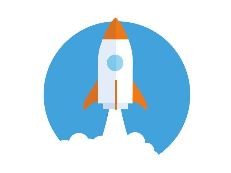 Rocket Launch Icon Stock Vector 438346198 - | illustrastion ideas in