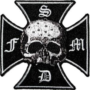 Black Label Society Iron Cross Skull Patch
