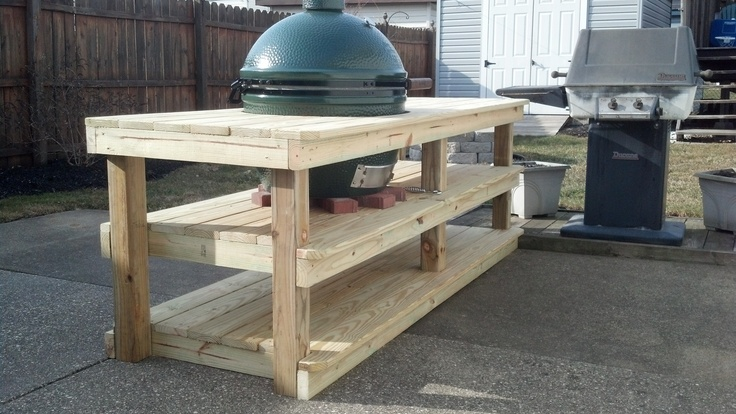 table for a xl big green egg with plenty of shelf space big green egg pinterest green eggs. Black Bedroom Furniture Sets. Home Design Ideas