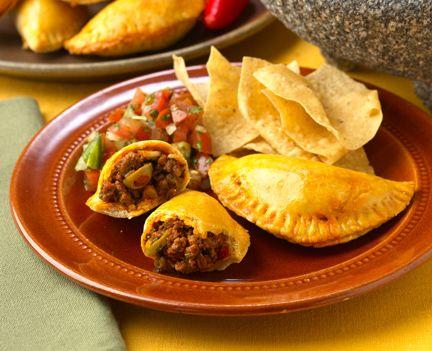 Empanadillas are the Puerto Rican version of empanadas, a stuffed pastry popular in Spain, Portugal, the Caribbean, Latin America