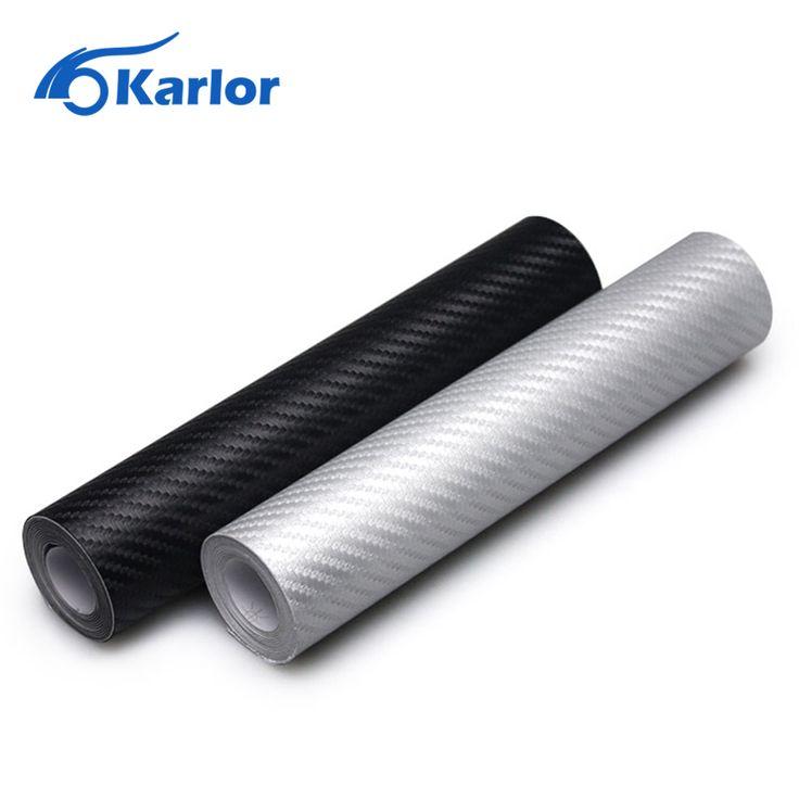 127 cm x 20 cm Car Styling 3D Carbon Fiber Vinyl Wrap Rollo de Película Auto de La Motocicleta Del Coche Accesorios Car Styling pegatinas Y Calcomanías
