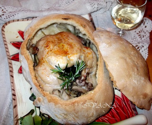 С нож и вилица в ръка: Пиле в хлебна кора  - Pollo in crosta di pane