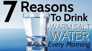 7 Reasons to Drink Warm Salt Water Every Morning - How to make Sole salt water and how to take it  Fill a quart-size Mason jar one-third full with unrefined, natural salt. Fill the jar with filtered water, leaving two inches at the top. Cover the solution with a plastic (not metal) storage cap. Shake and let it sit for 24 hours. Check in 24 hours to see if all salt crystals are dissolved, and add a little more salt. When the salt no longer dissolves, the Sole is ready. - [Going to do more…