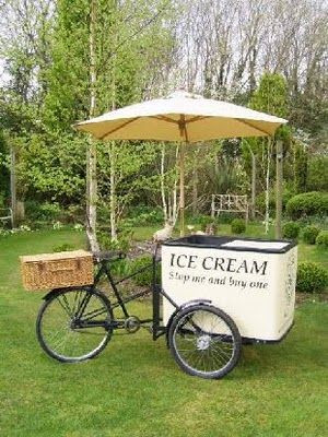 1920s ice cream tricycle - fab for a summer garden wedding