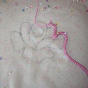 Romanian Point Lace Crochet - rose motif tutorial