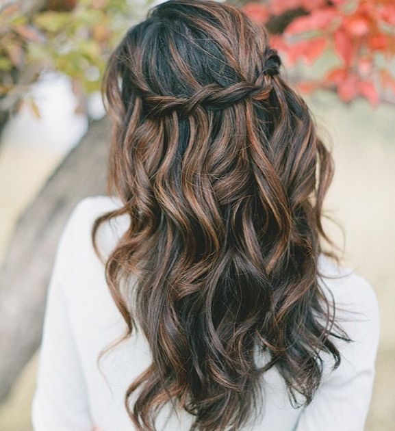 Wedding Hairstyle best hairstyles for a wedding ideas with hairstyles for a wedding Waterfall Braid