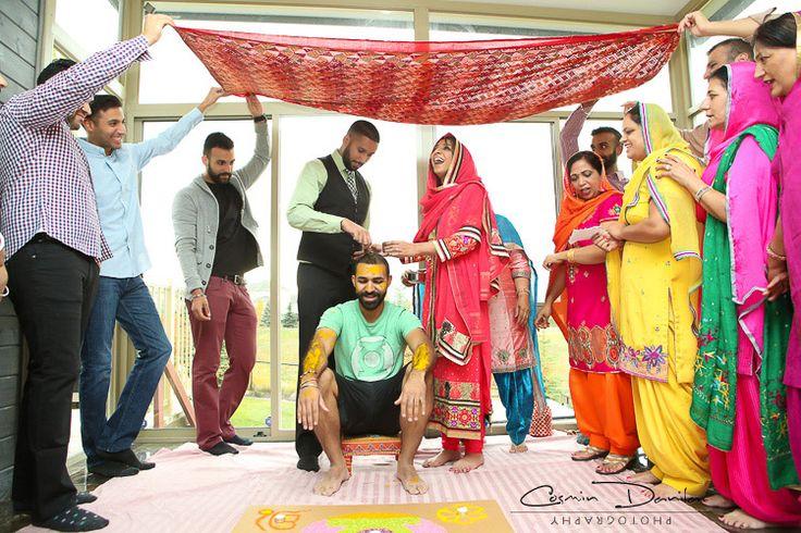 Can you Find Parjeet in Kiran's Palm? (Punjabi Wedding Rituals in Calgary) | Cosmin Danila Photography - I See Beautiful People