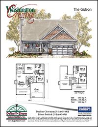Bayfield | Design 24114 | Traditional Style Home Plan at DesignBasics.com.    A bit unusual entrance from the garage to laundry room, but interesting.