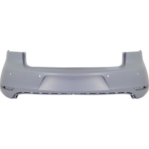2010-2014 Volkswagen GTI Rear Bumper Cover, Primed, With Parking Assist