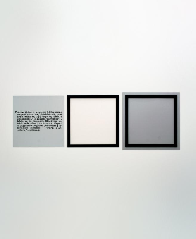 joseph kosuth one and three frames 1965 madre kasboek xi museum zu verkaufen pinterest frames