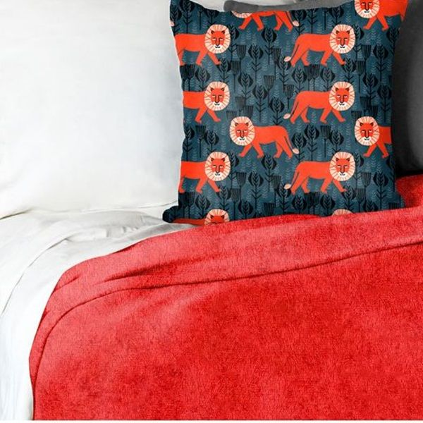 """A fitted blanket makes great captain's bed bedding.  The Red Cuddle® Fleece Minky Blanket is made with the Elasticized NoTuck® Fitted Design for a """"stay put"""" fit."""