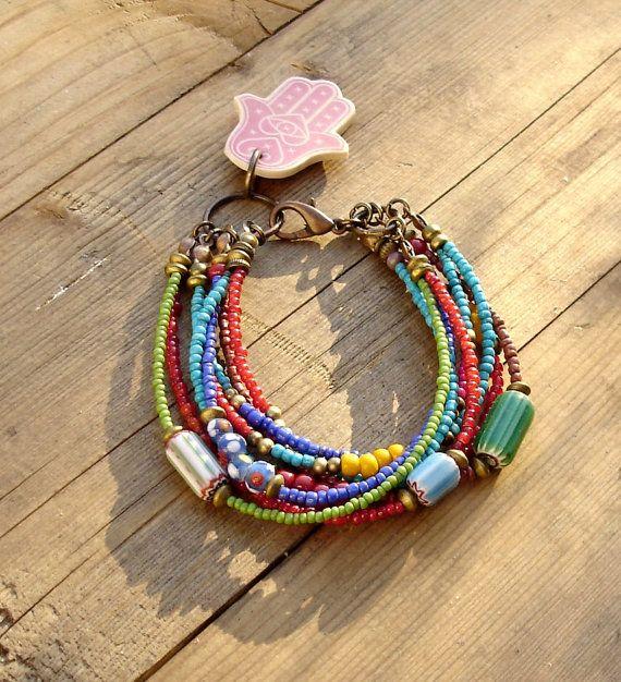 Murano+Bracelet+by+beadsnbones+on+Etsy