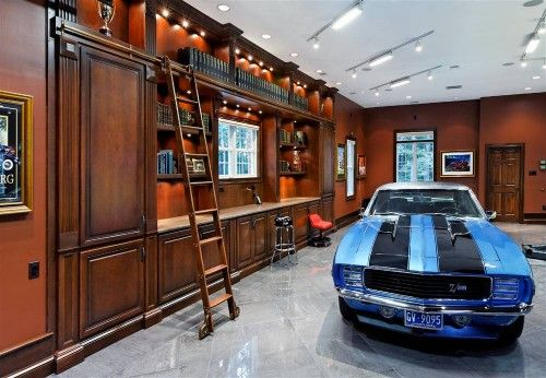 Garages: Exotic Cars Get Revved Up Home | Car Garage, Storage And Men Cave