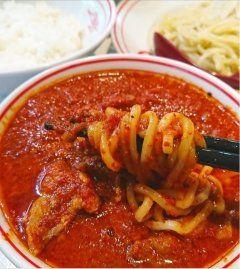 リリースで気になっていたので初めて来ました蒙古タンメン中本 品川店北極ハーフセットを注文なんじゃこの赤辛そうと思いきやそうでもない辛いけど旨辛スープにコクがあって白ご飯にも合う(ω;)  食べたことない人辛いモン苦手な人でもいけますよ()o tags[東京都]