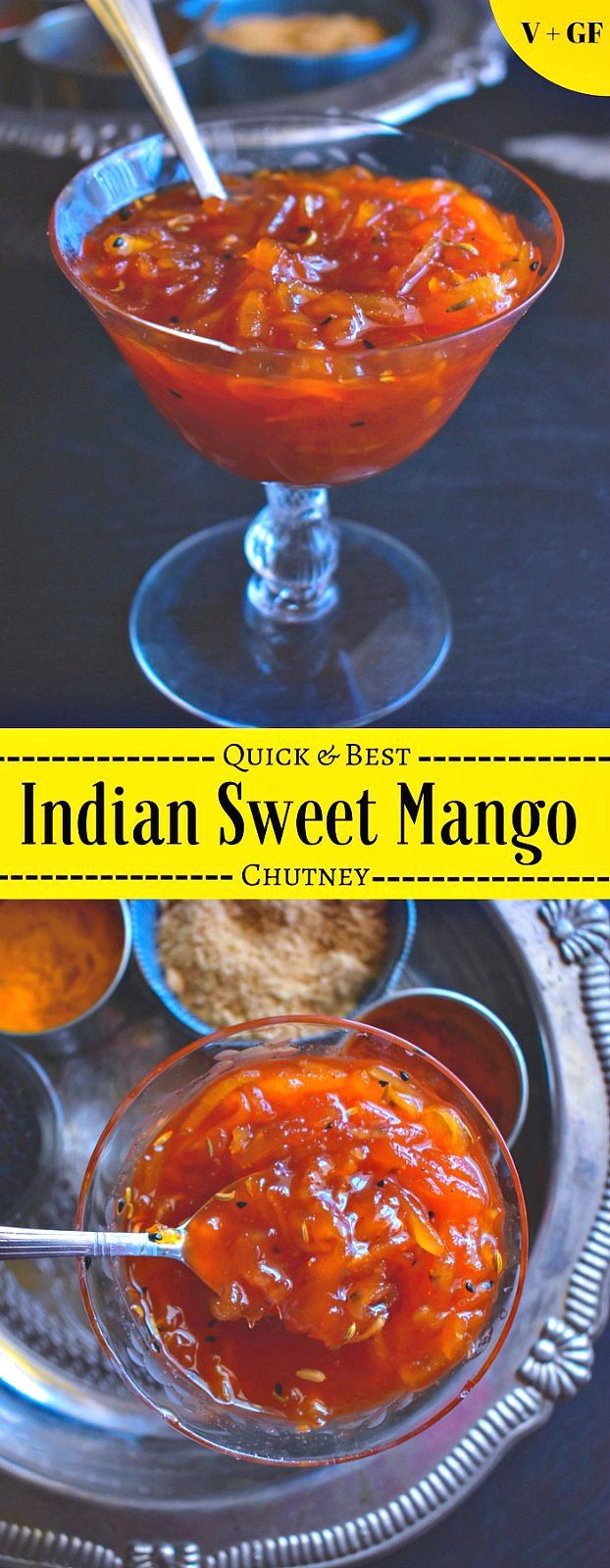 Quick and Best Indian Sweet Mango Chutney Recipe: #mango #chutney #vegan #indian #pickle #mangochutney
