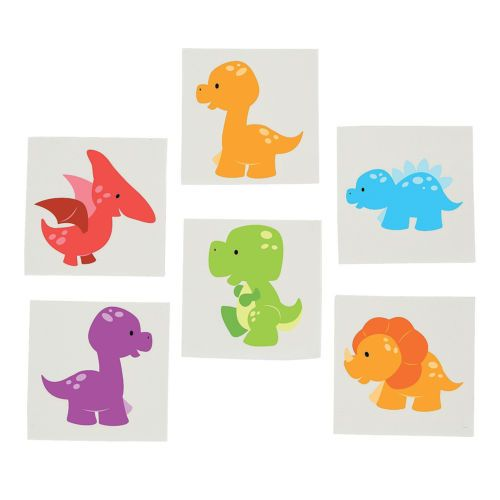 DINOSAUR-PARTY-FAVOUR-Little-Dino-Tattoos-Temporary-Tattoo-pack-of-36