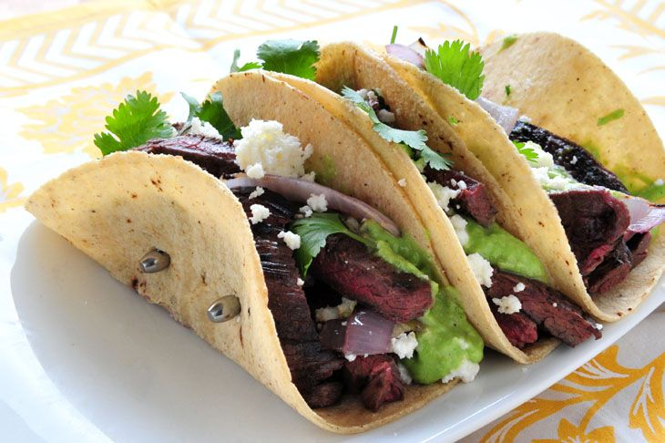 Elk Skirt Steak Tacos with Tomatillo Avocado Sauce - this sauce sounds ...