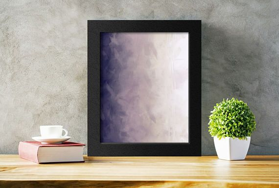 Printable Abstract Art in Aubergine Purple and Cream.  Add a modern touch to any decor easily and affordably.  Just download, print, and hang!  #abstractprint #modernart #purple