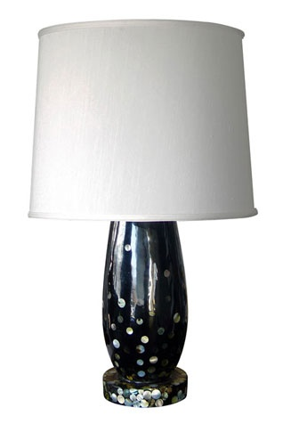 oly. black resin. mother of pearl. twilite lampBlack Resins, Twilit Lamps