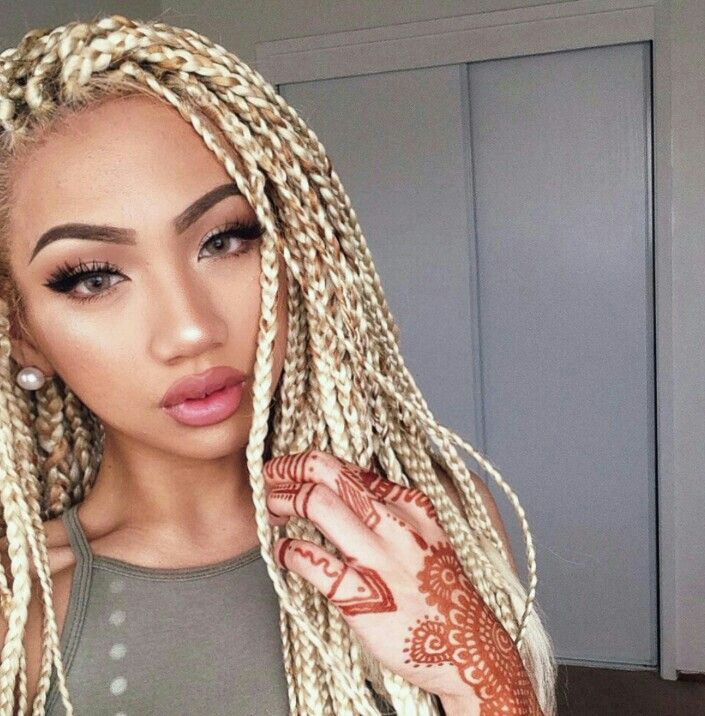 Asian Bae Box Braids Blonde En 2019 Trenzas Trenzas