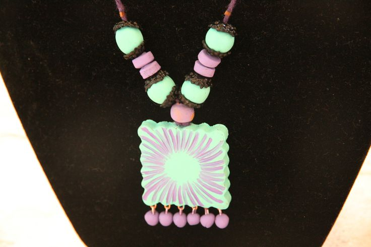 Contemporary Terracotta Necklace by Bagoholics on Etsy, $30.00
