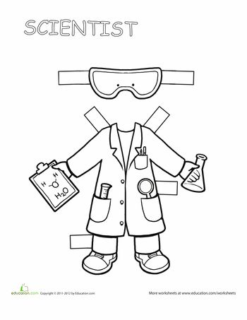 career paper dolls scientist on tuesday labor day and labor. Black Bedroom Furniture Sets. Home Design Ideas
