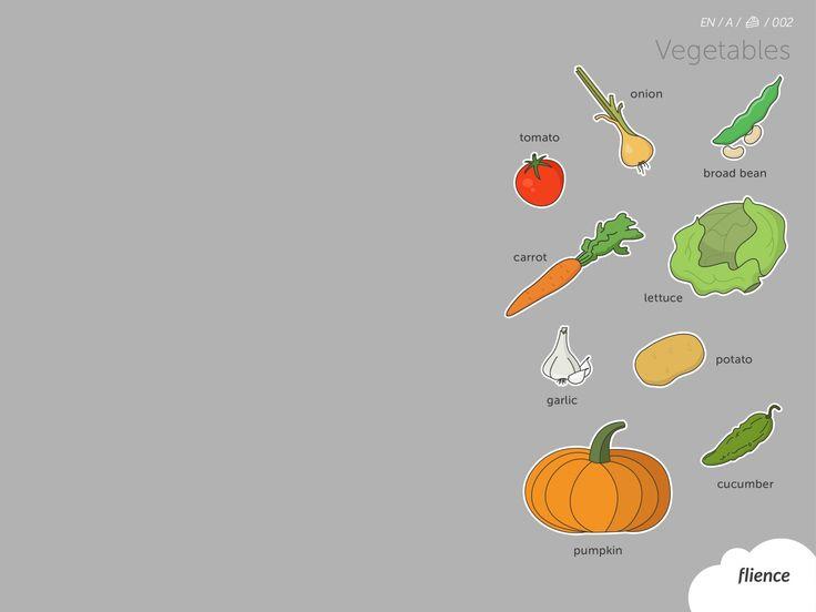Food-vegetables_002_en #ScreenFly #flience #english #education #wallpaper #language