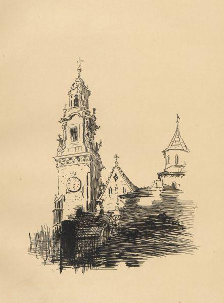 Wieża Zegarowa (Wawel) - Leon Wyczółkowski