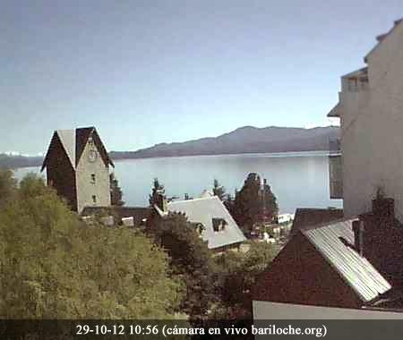Bariloche Octubre 29, 11:00hs 10º Soleado  Imágen cámara en vivo de : www.bariloche.org