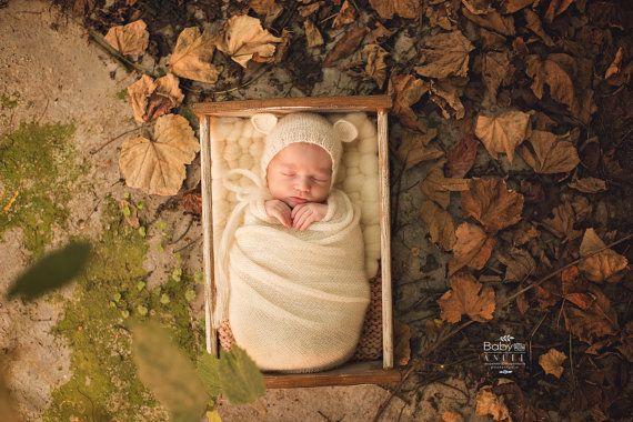 Pasgeboren fotografie Prop houten prop door PhotoBabyPropsStore