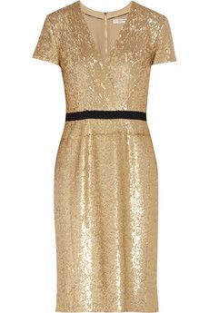 Burberry London Sequined Wrap-Effect Dress