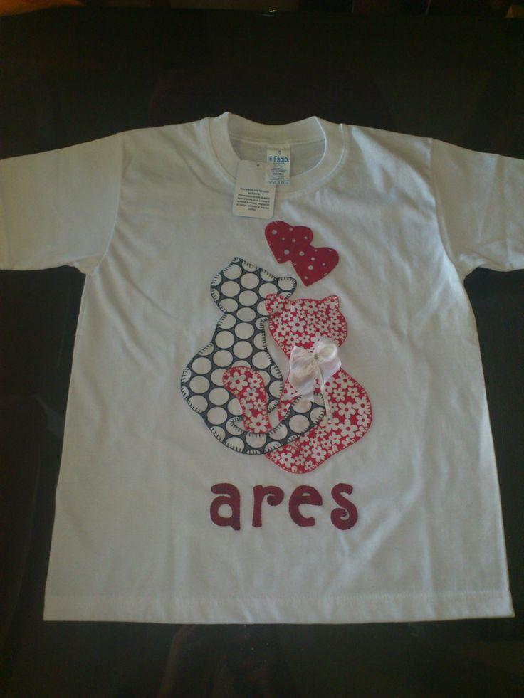 "Camiseta patchwork infantil ""Gatitos Ares"""