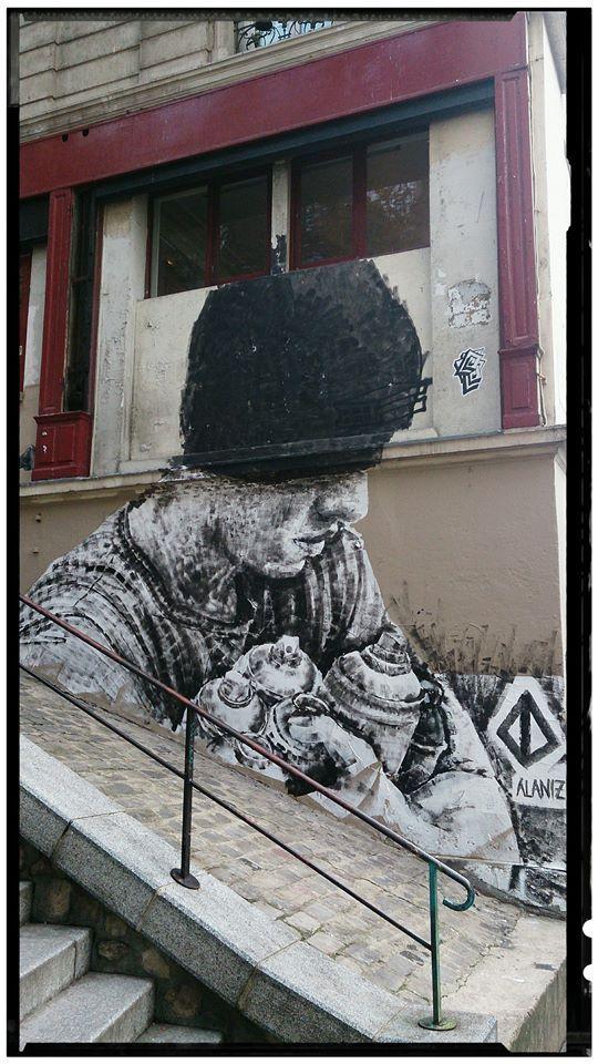 *Artist Alaniz.....rue de lequerre Paris19 #streetart jd