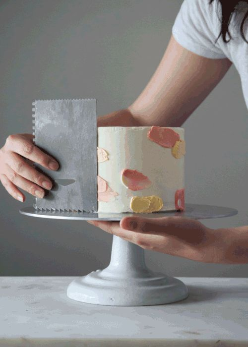 How to make a watercolor cake + video.