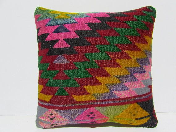 VIEW ALL KILIM PILLOWS http://www.etsy.com/shop/DECOLICKILIMPILLOWS  HAND WOVEN ORIENTAL TURKISH KILIM PILLOW COVER by DECOLIC TURKIYE.  1-