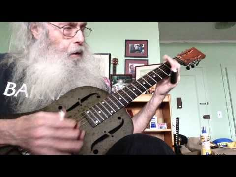I freakin' LOVE this guy! ~ Slide Guitar Blues Lesson In Open D On My National Steel NPB12 With Insa...