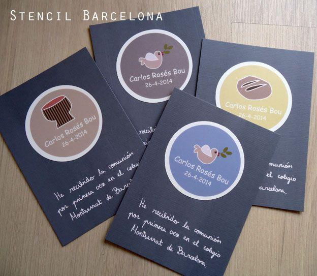 13 best lbumes primera comuni n images on pinterest - Stencil barcelona ...
