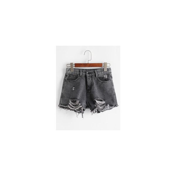 Women's Shorts - White, Leather, Red & Knee Length Shorts | Romwe.com ❤ liked on Polyvore featuring shorts, white jean shorts, red shorts, denim short shorts, long jean shorts and short shorts