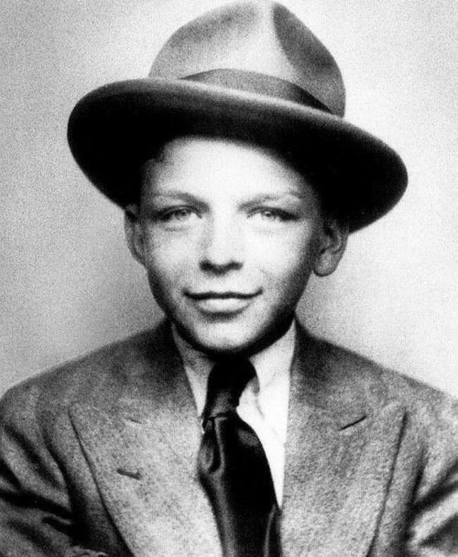 Frank Sinatra, age 10, already looking smooth