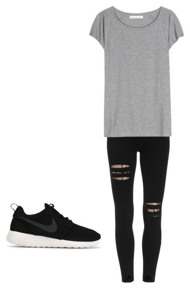 """""""Need a red check shirt around waist but oh well"""" by georgiepaws on Polyvore featuring Acne Studios and NIKE"""