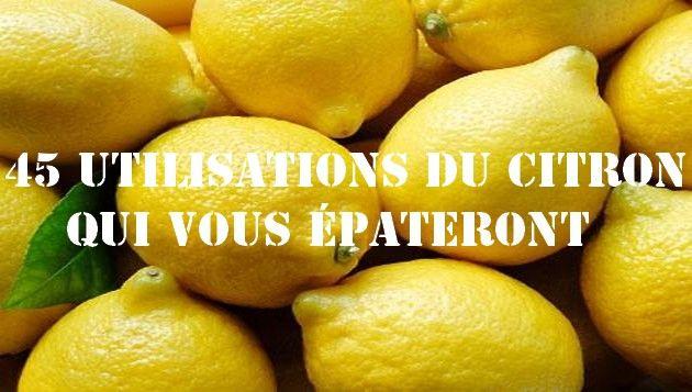45 utilisations du citron qui vous épateront La plupart des gens connaissent les utilisations traditionnelles avec du citron pour apaiser les maux de gorge