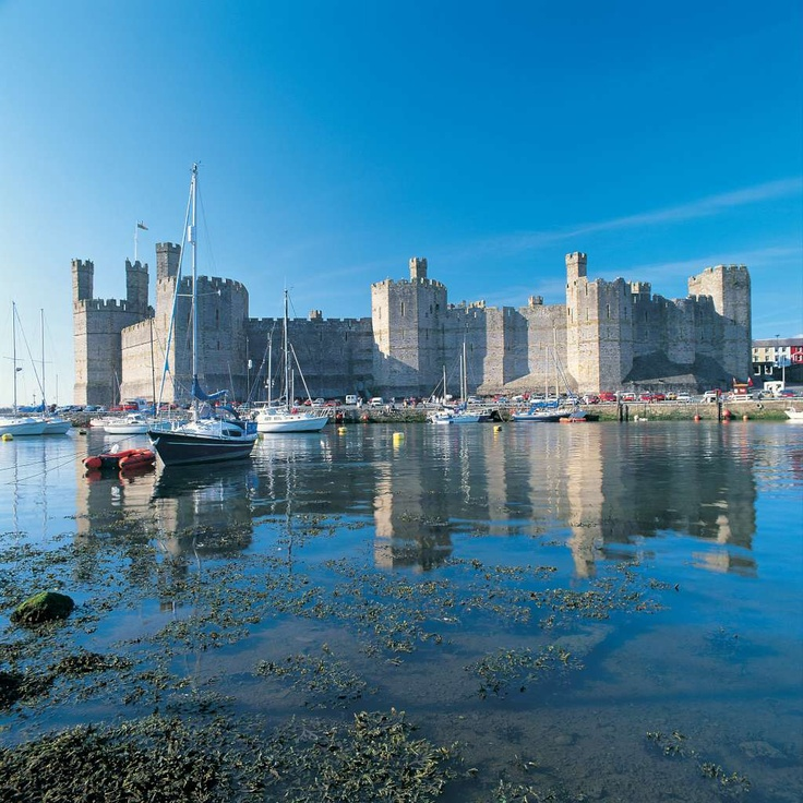Caernarfon Castle, Wales, UK. The Welsh recaptured Gwynedd in 1115, and Caernarfon Castle came into the possession of the Welsh princes. From contemporary documents written at the castle, it is known that Llywelyn the Great occasionally stayed at Caernarfon. Llywelyn ab Iorwerth, (c. 1172 – 11 April 1240) was a Prince of Gwynedd in north Wales and eventually de facto ruler over most of Wales. Llywelyn is generation 27 on family tree.