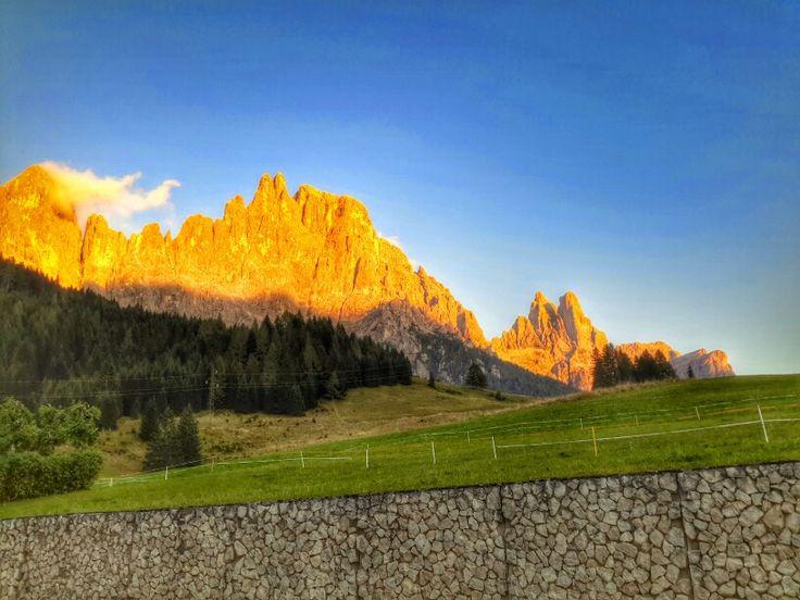 Enrosadira Pale di san Martino #dolomites #italy