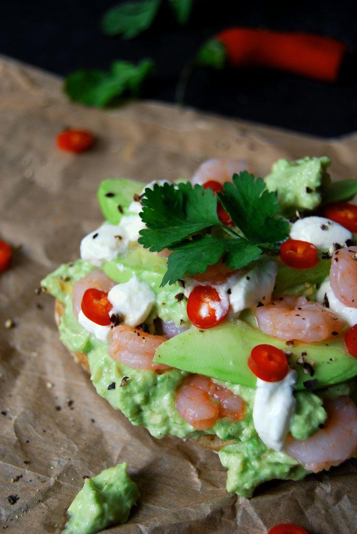Shrimp Sandwich with Cumin Guacamole, Coriander and Chili ...