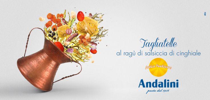Tagliatelle al ragu di salsiccia di cinghiale | Ricette Andalini www.andalini.com