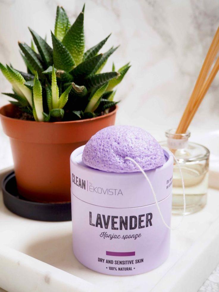 OSTOLAKOSSA: Maailman kaunein konjac-sieni - Clean by Ecovista Lavender Konjac Sponge