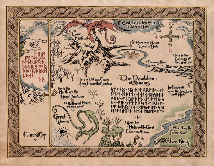 Book Riot: Cool Maps of Fictional Literary Places. Middleearth