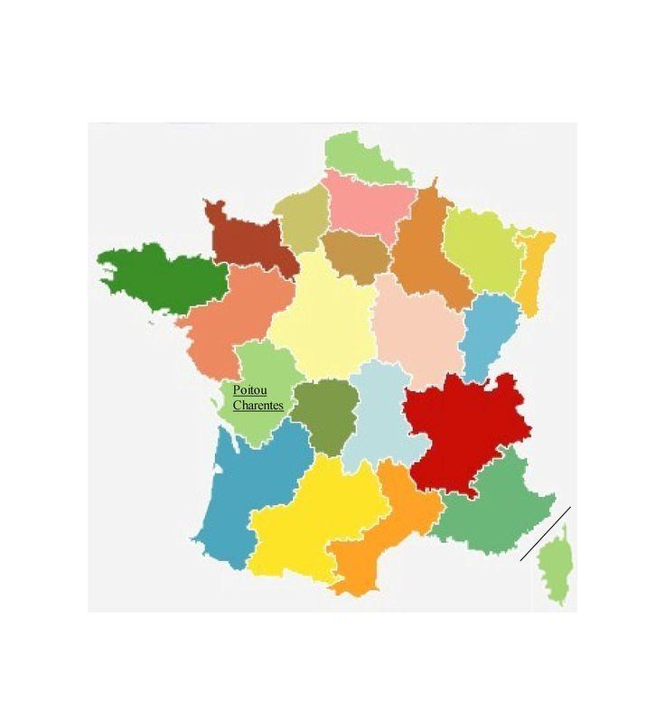 Régions Poitou Charentes, France.