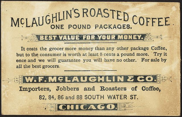 McLaughlin's Roasted Coffee [back] by Boston Public Library, vintage ad