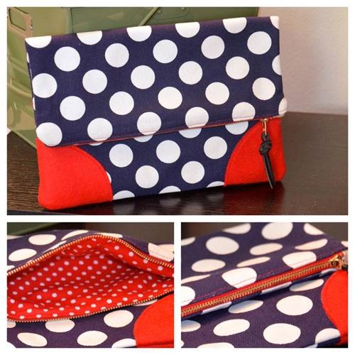 SUPER HOT polka dot clutch purse- DIY Tutorial by @Mimi B. B. B. B. B. G. Style